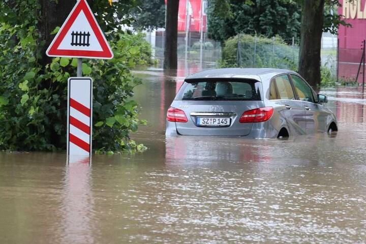Am Donnerstagmorgen stieg das Wasser wieder auf 7,03 Meter.