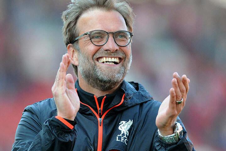 """Immer gut gelaunt: Auch mit Liverpool konnte """"Kloppo"""" in dieser Spielzeit häufig lachen."""