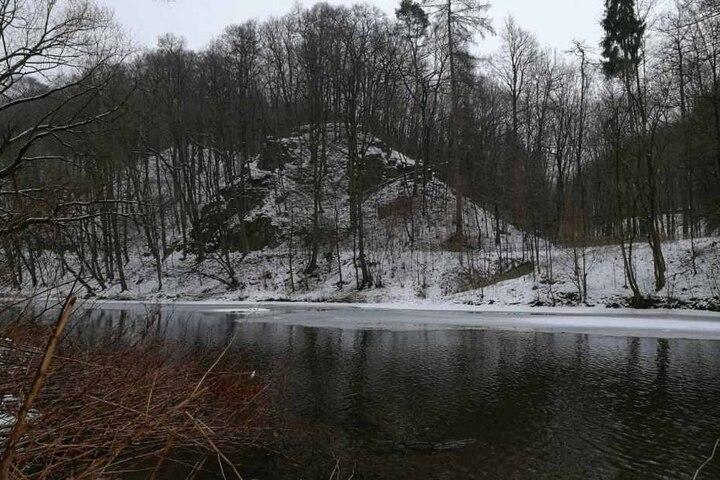 Eine Person ist auf dem Eis der Zwickauer Mulde eingebrochen.