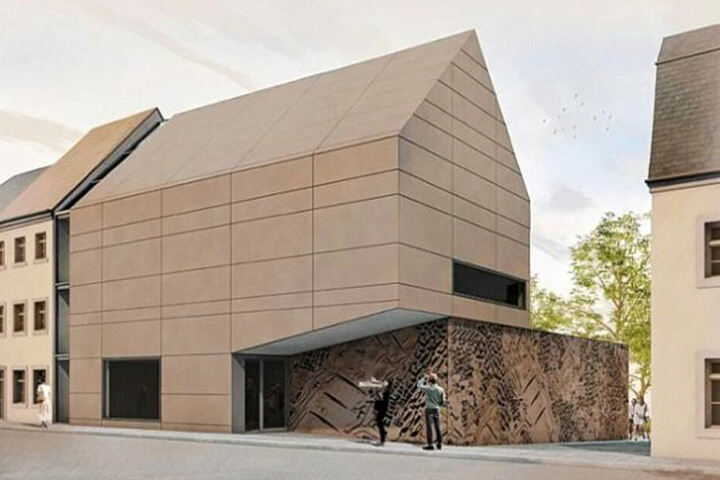 Dieser moderne Neubau soll einmal zum Ausstellungdepot werden.