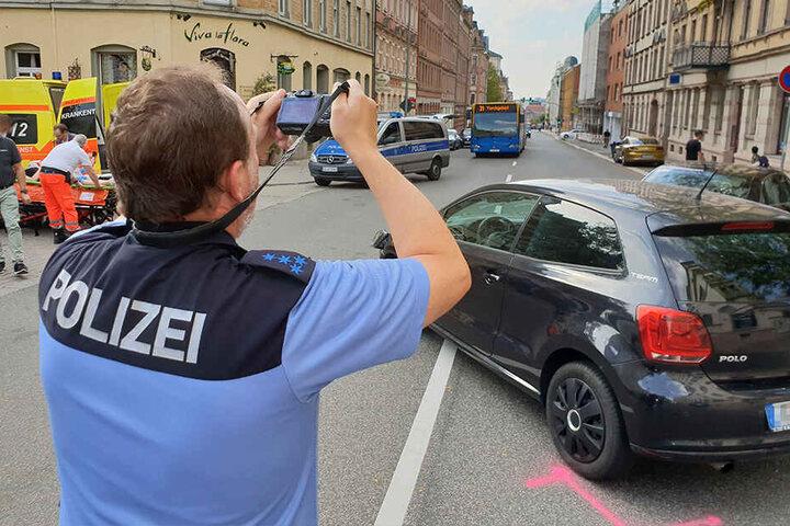 Unfall in der Chemnitzer Fürstenstraße: Die Polizei zählt immer mehr Verletzte im Verkehr.