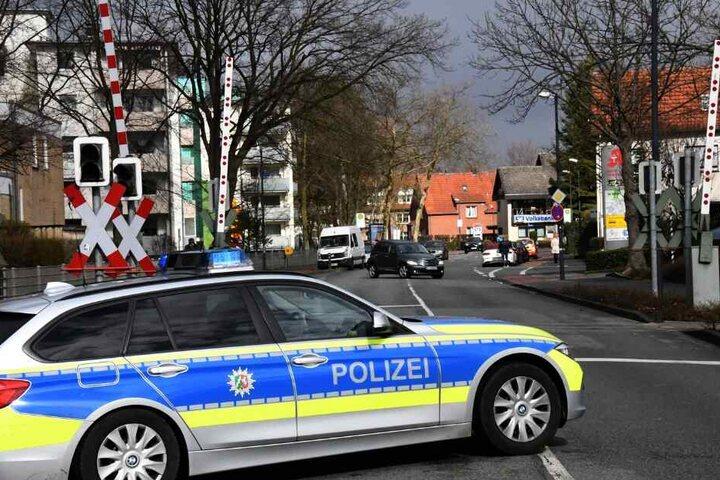 Die Polizei sperrte die Kahlerstraße für rund 90 Minuten.
