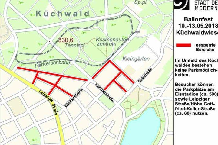 Diese Straßen werden in Chemnitz zum Ballonfest gesperrt.