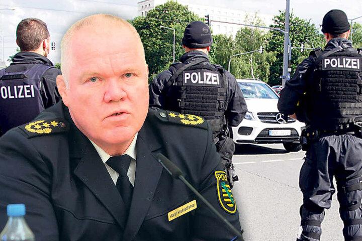 Am Wochenende überwachten Polizisten den Dresdner Hauptbahnhof. Polizeipräsident Horst Kretzschmar (57) will weitere Schlägereien  verhindern.