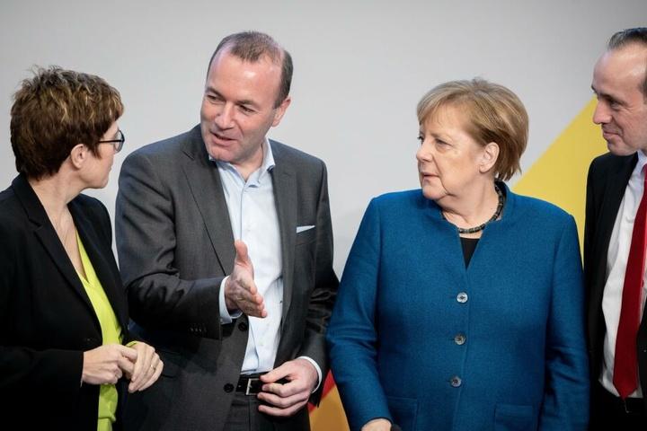 Brandenburgs CDU-Landeschef Ingo Senftleben (2.v.l.) hatte eine Zusammenarbeit mit der Linken nicht ausgeschlossen.
