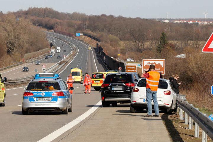 Die Autobahn musste zeitweise gesperrt werden.