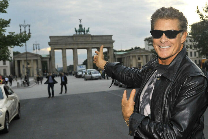 The Hoff bei einem Besuch in Berlin.