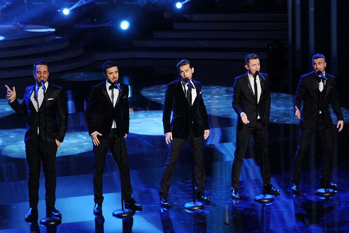 The Overtones 2013 bei einem Auftritt in München bei der Verleihung des Bayerischen Filmpreises im Prinzregententheater.
