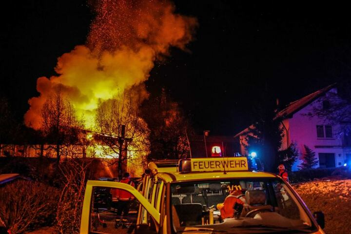 Die Feuerwehr Winnenden war mit 50 Einsatzkräften im Einsatz.