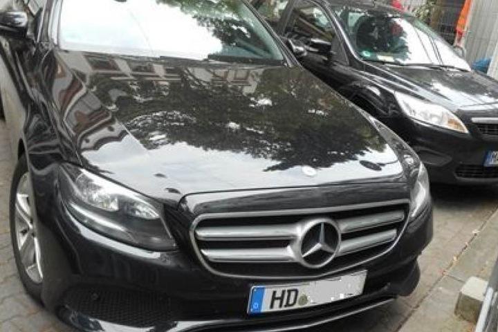 Der Geschäftswagen von Julia B., ein Mercedes E-Klasse.