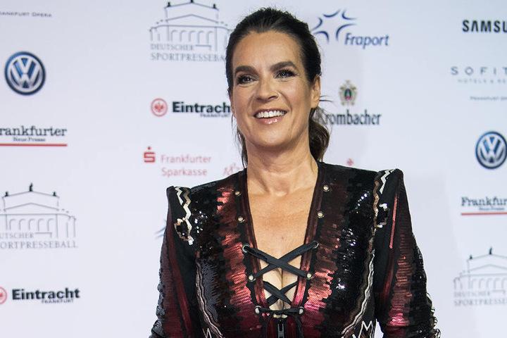 Die Chemnitzerin und Olympiasiegerin Katarina Witt (52) war auch auf dem roten Teppich.
