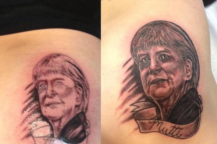 Angela Merkel hat auf dem Po einen bleibenden Eindruck hinterlassen.