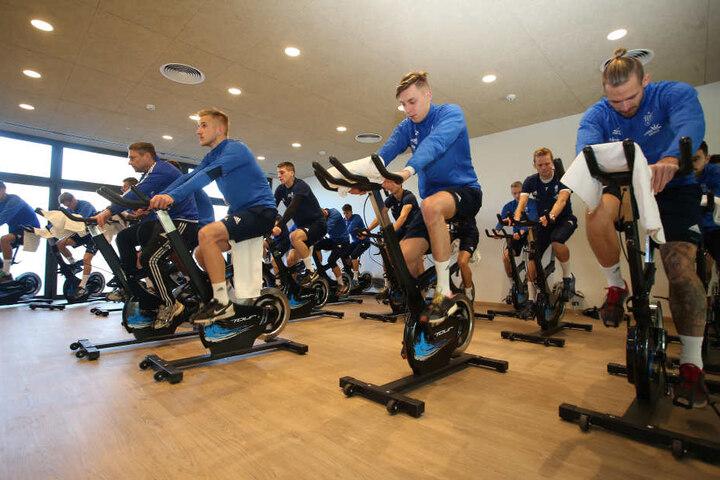 Benötigen die CFC-Kicker den Fitnessraum - Jordi macht's möglich.