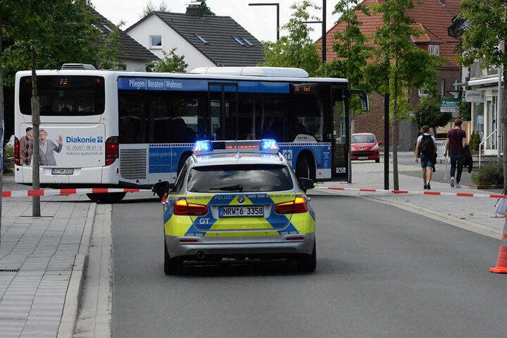 Die Gütersloher Straße musste gesperrt werden.