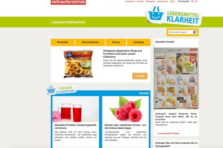 """Auf der Webseite """"Lebensmittelklarheit.de"""" können Verbraucher Beschwerde einreichen."""