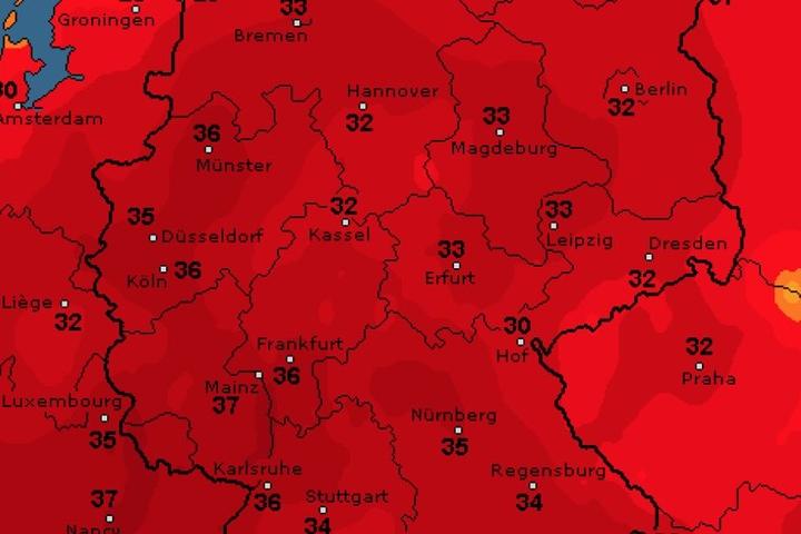 DIese Temperaturprognose gilt für Deutschland laut WetterOnline in der kommenden Woche.