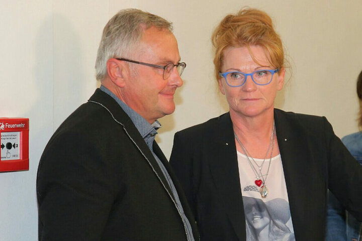 Die Eltern von Anneli am Tag der Urteilsverkündung.