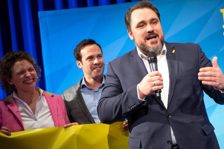 FDP-Landeschef Daniel Föst (r.) betonte eine alte Tradition seiner Partei beim Thema Umweltschutz.
