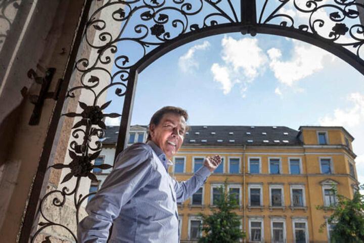 Investor Dietmar Jung (68) hat Chemnitz für sich entdeckt, will das leer stehende Haus an der Mühlenstraße 88 sanieren und Eigentumswohnungen bauen.