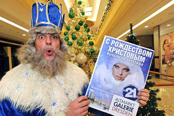 Die Altmarkt-Galerie hat sich einiges einfallen lassen, um wieder mehr russische Touristen ins Haus zu holen.