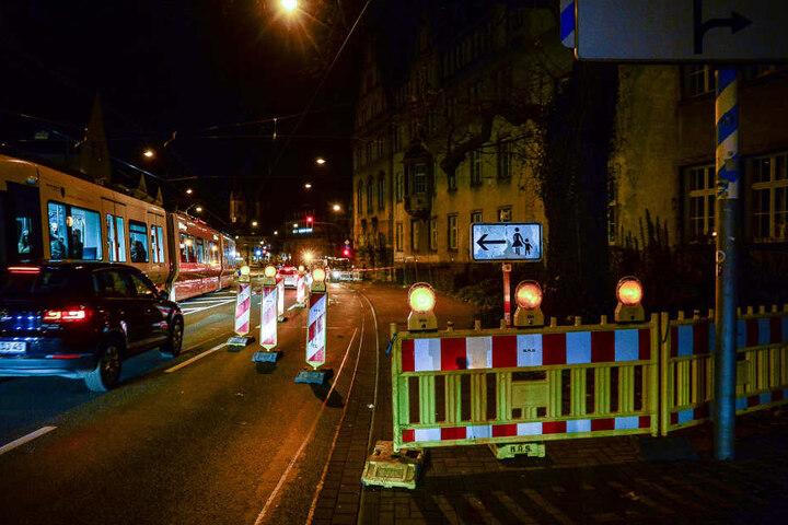 In der Nacht soll noch ein Sicherheitsnetz gespannt werden.