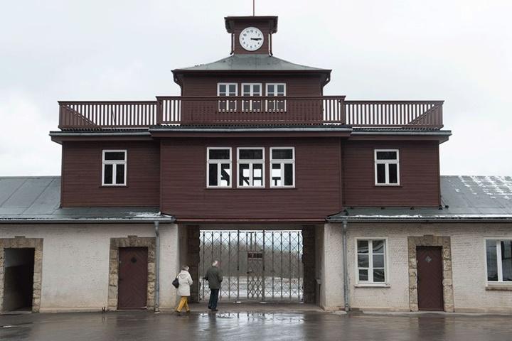 Das Eingangstor zur Gedenkstätte des Konzentrationslagers Buchenwald.