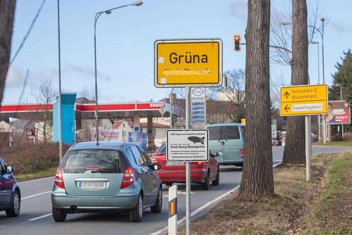 Bis zum Ortseingang Grüna ist die Neefestraße nach dem Kreisverkehr ab Mittwoch voll gesperrt