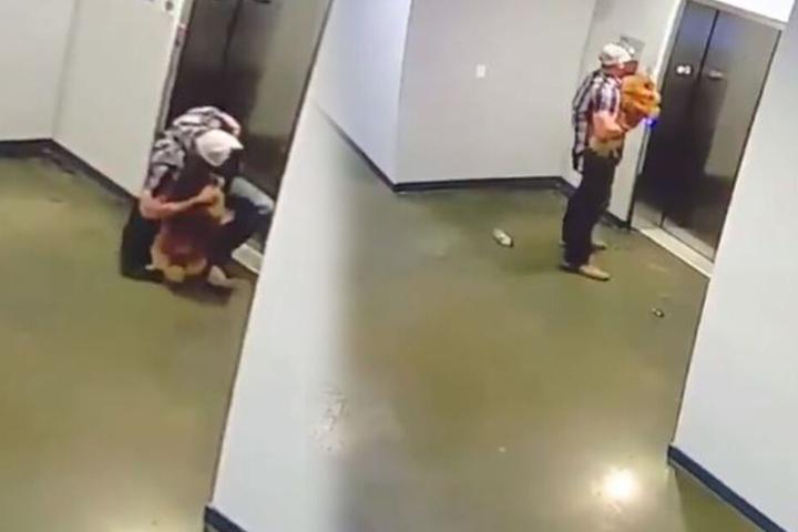 In letzter Sekunde rettete der Texaner das Leben des Hundes.