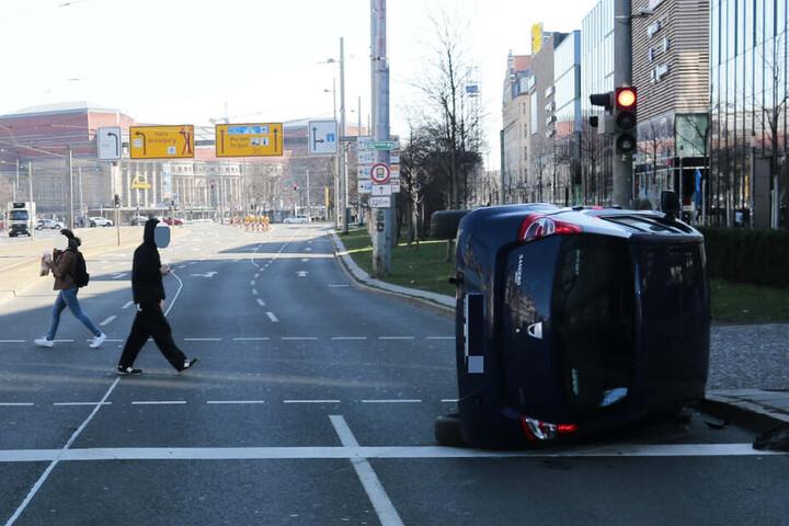 In Richtung Hauptbahnhof ist der Abschnitt des Tröndlinrings teilweise gesperrt.
