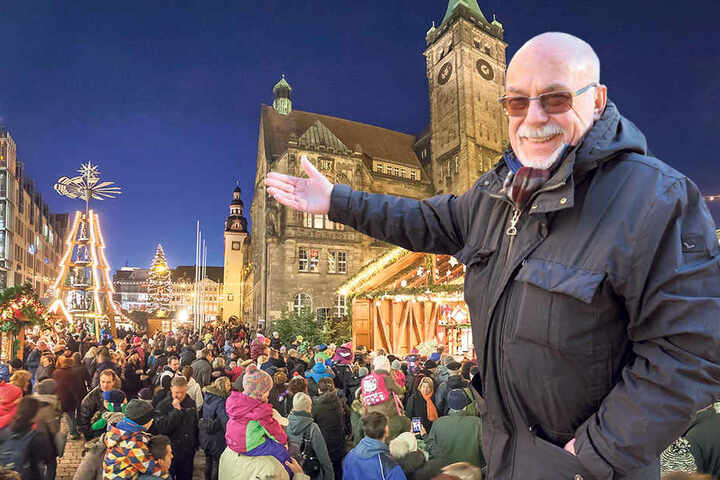 Bob, der Baumeister von Chemnitz: Siegfried Ade(74) ist stolz auf sein Werk.