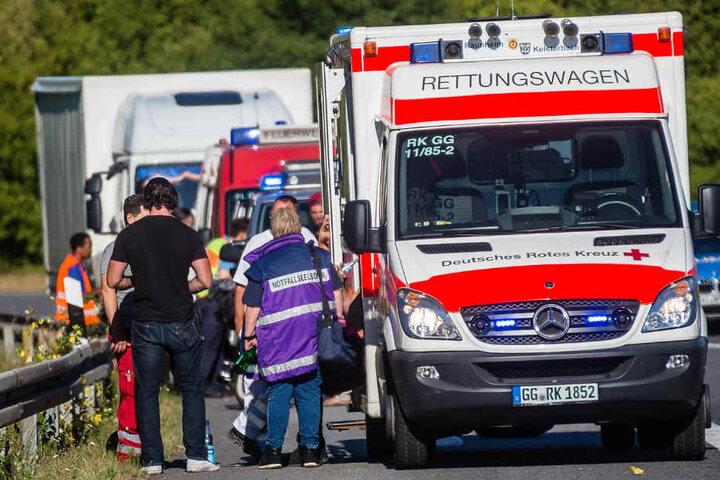 Zahlreiche Rettungswagen waren vor Ort