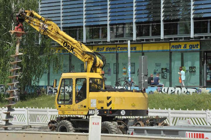 Die Baustellen lassen die Umsätze der Händler schmelzen.