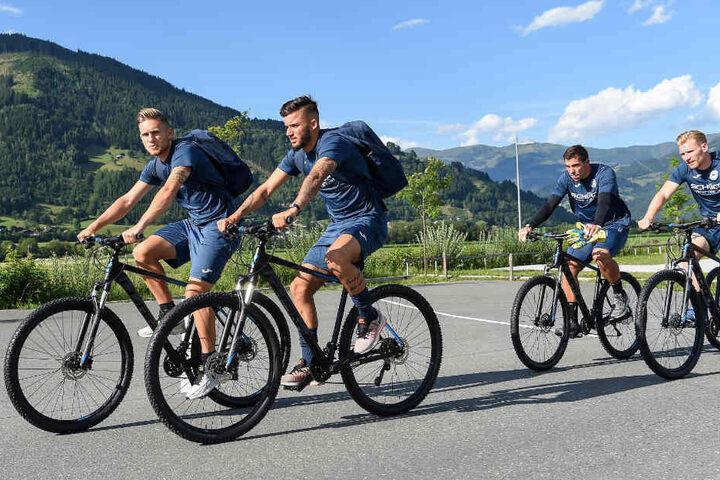 Leandro Putaro (v.l.), Keanu Staude, Stefan Ortega Moreno und Andreas Voglsammer sind auch 2018 wieder dabei.