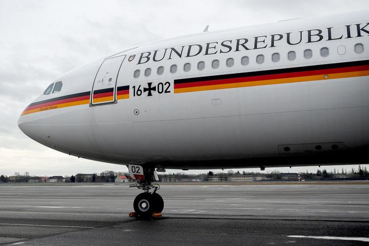 """Das Regierungsflugzeug """"Theodor Heuss"""" startet für gewöhnlich von Berlin-Tegel."""