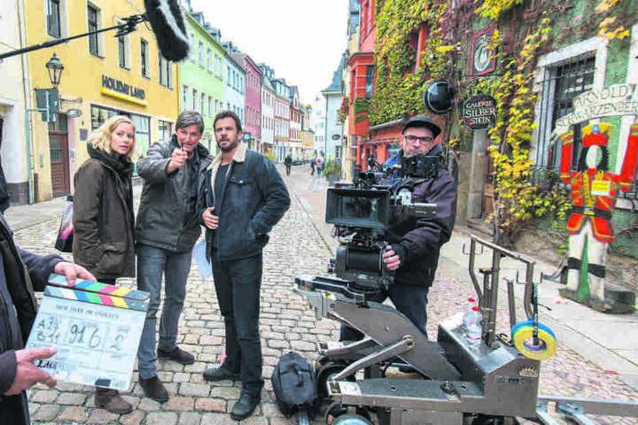 Die Dreharbeiten fanden 2018 unter anderem in der Oberen Schlossstraße in Schwarzenberg statt. Diesen Samstag, 20.15 Uhr, läuft der Krimi im ZDF.