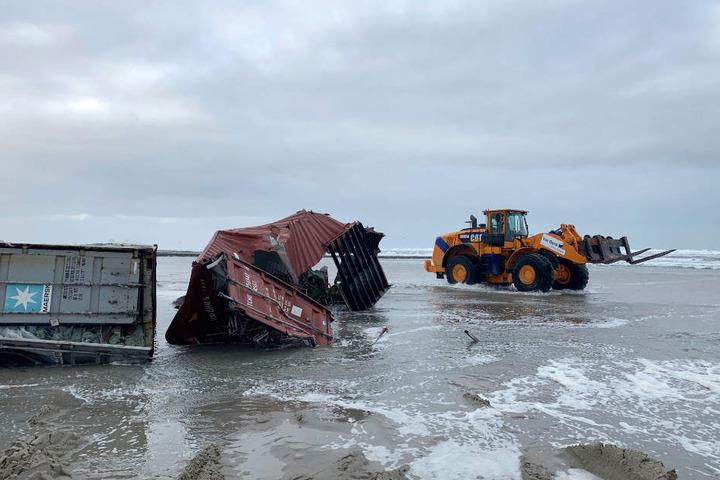Einige Container wurden an die Nordseestrände gespült.