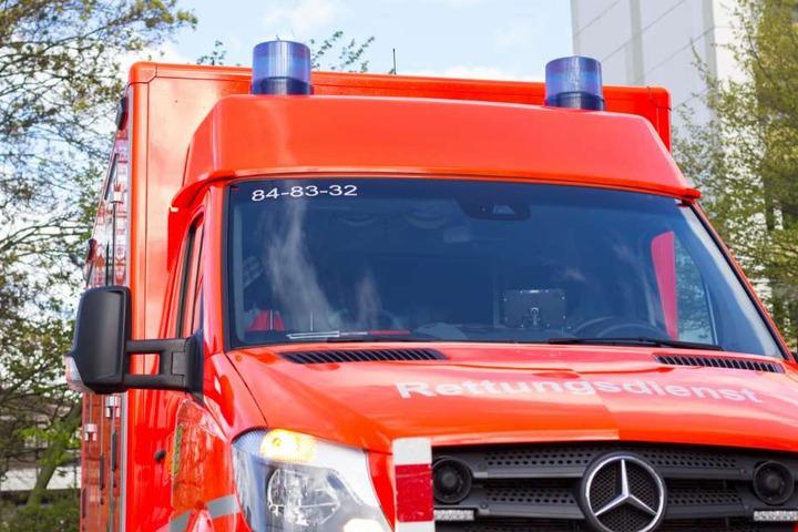 Ein Krankenwagen brachte den schwer verletzten Fahrer in ein Krankenhaus. (Symbolbild)