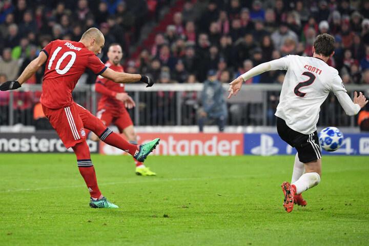 In der Champions League Partie gegen Benfica Lissabon am 27.11.18 stand Robben das letzten Mal auf dem Platz. (Archivbild)