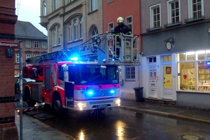 Die Feuerwehr rückte in der Paulstraße an.