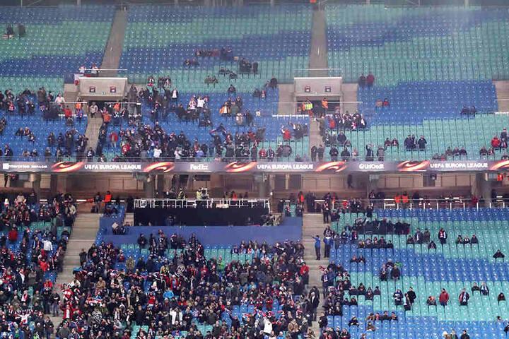 Beim Euro-League-Spiel der Leipziger gegen St. Petersburg blieben Teile der Zuschauerränger unbesetzt. Wird dies beim DFB-Länderspiel ähnlich.