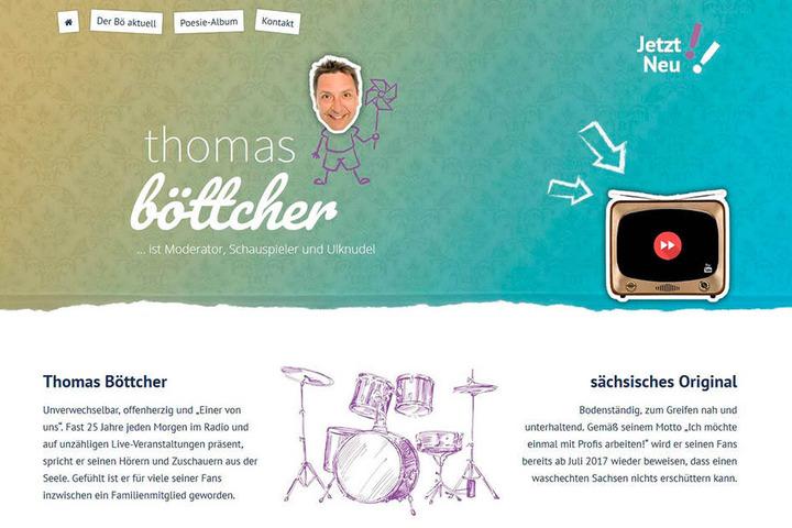 Die neue Internetseite von Thomas Böttcher verlinkt sofort zu den  YouTube-Videos.