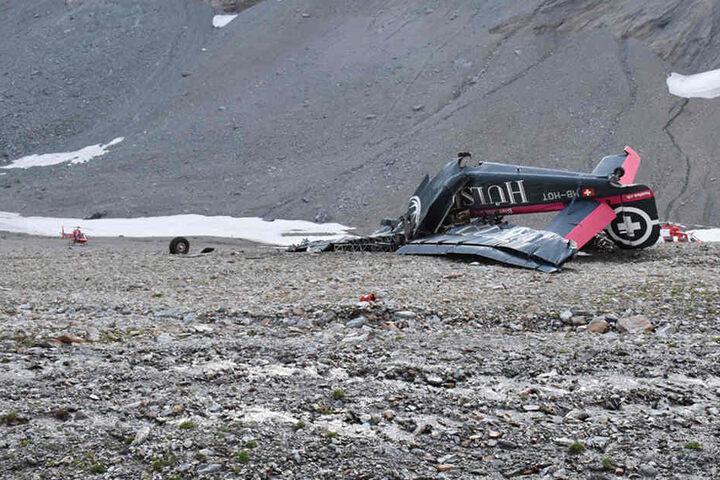 Die Junkers-Maschine Ju-52 war am Samstagnachmittag am Berg Piz Segnas in der Schweiz abgestürzt.