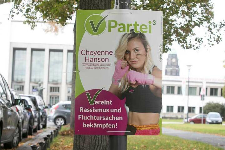 Parteien, die jetzt noch Plakate hängen haben müssen pro Stück 5,15 bis 9,50 Euro zahlen.