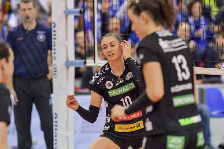 Die Enttäuschung ins Gesicht geschrieben: Lena Stigrot und der DSC unterlagen erneut in einem Spitzenspiel.