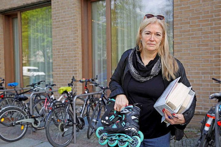 """Über Jahre kämpfte Barbara Lässig (61), notfalls auch vor Gericht (F.), um """"ihren"""" Skaterverein - jetzt ist Schluss!"""