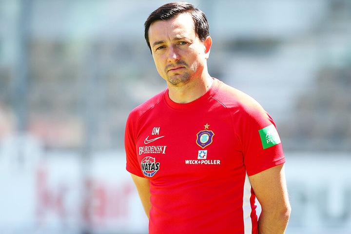 Aue-Coach Daniel Meyer wünscht sich noch zwei neue Spieler für den FCE.