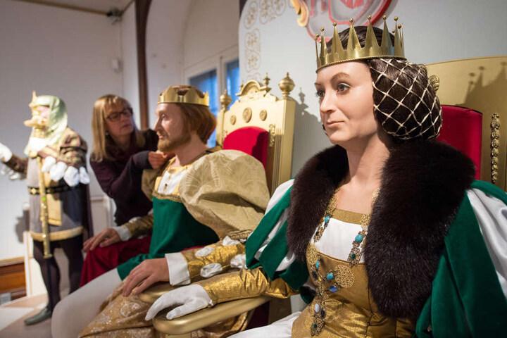 Das Elternpaar des Prinzen in der Ausstellung.