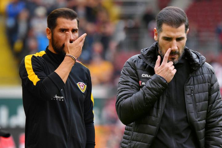...und war eine Woche später chancenlos gegen Bielefeld (links). Erstmals war Cristian Fiel ratlos,was in seiner schwäbischen Heimat (rechts) so blieb. Cristian Fiel sucht nach Antworten.