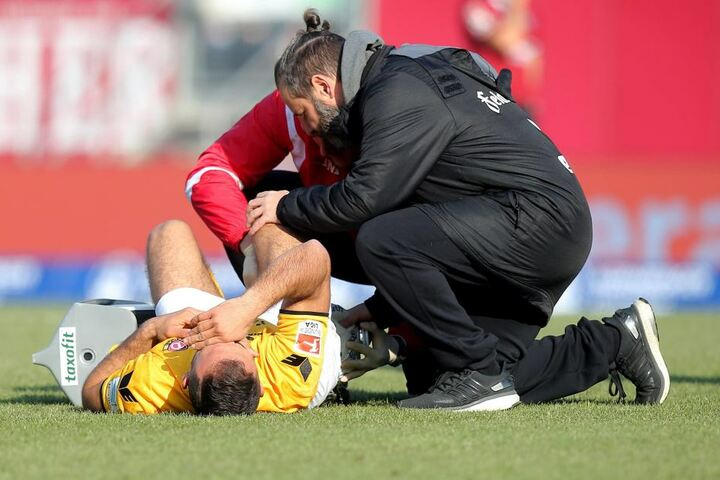Bitter: Akaki Gogia musste zeitig verletzt raus.