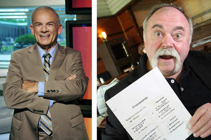 Auch dabei: Ex-Fernsehjournalist Peter Hahne (66, l.) und Kabarettist Gunter Böhnke (75).